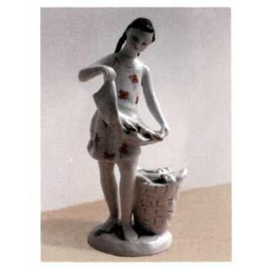Девочка с початками, ЛФЗ, 1950-60-е