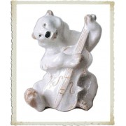 Медведь (белый) с контрабасом [ЛФЗ]