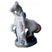Колхозница с лошадью (Гжель)