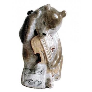 Медведь с контрабасом 13 см (ЛФЗ)